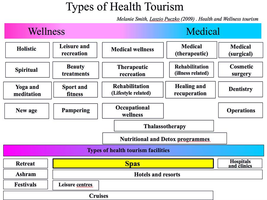 図1.ヘルスツーリズムの類型と提供施設